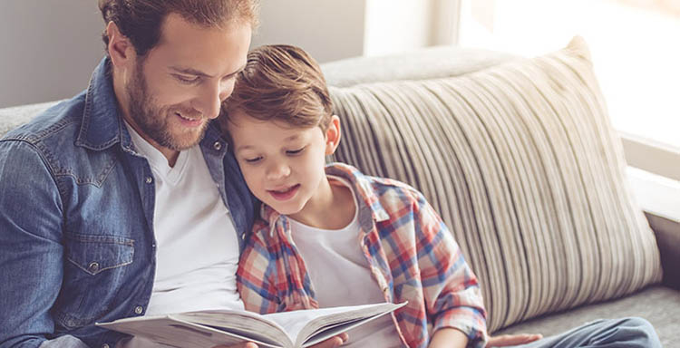Father & Son reading