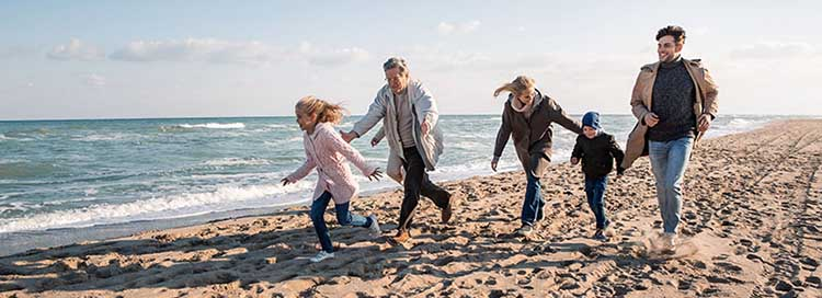 3 generations on the beach